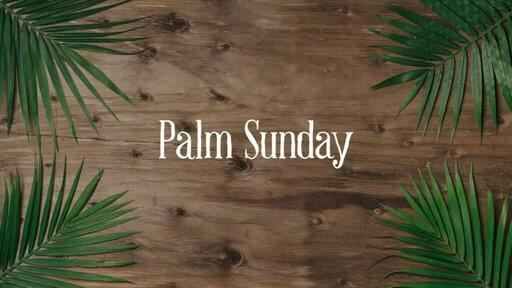 Palm Leaves Wood - Palm Sunday