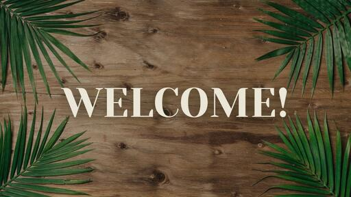Palm Leaves Wood - Welcome - Motion