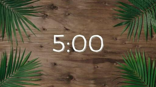 Palm Leaves Wood - Countdown 5 min