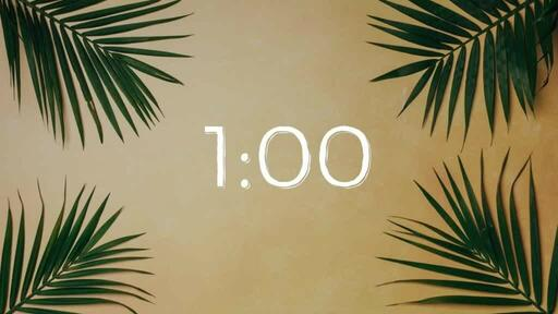 Palm Leaves Yellow - Countdown 1 min