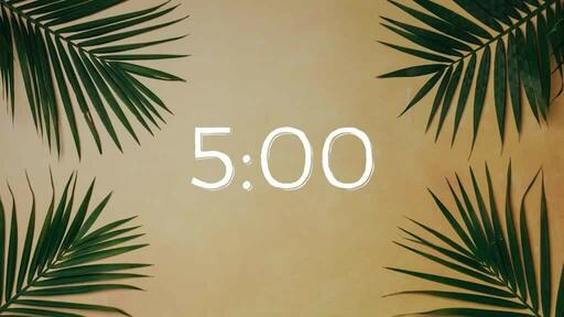 Palm Leaves Yellow - Countdown 5 min