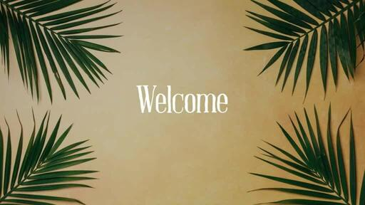 Palm Leaves Yellow - Welcome