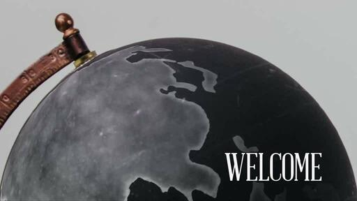 Spinning Globe - Welcome