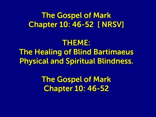 February 13 2019 | St Matts | Wednesday 10.30 | HC