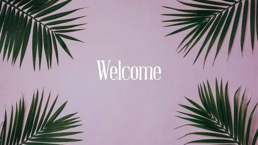 Palm Leaves Pink - Welcome