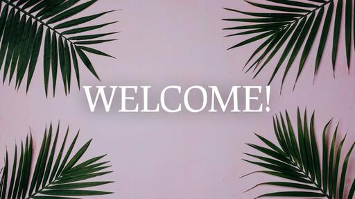 Palm Leaves Pink - Welcome - Motion
