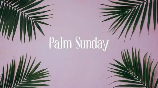 Palm Leaves Pink - Palm Sunday