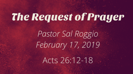 THE REQUEST OF PRAYER