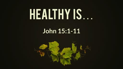Healthy is ....