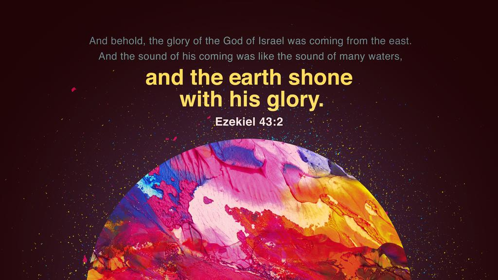 Ezekiel 43:2 large preview
