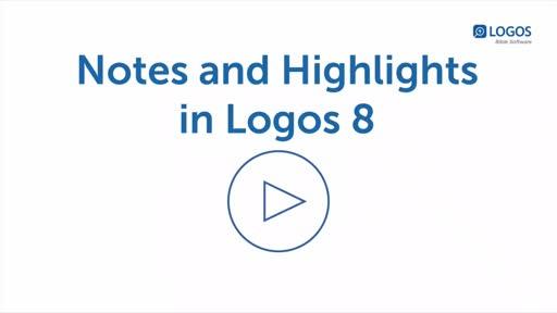 2/13 Logos 8 Notes Webinar