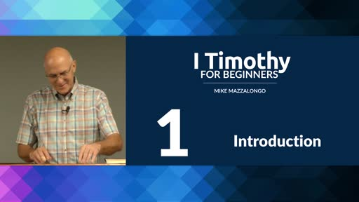 Introduction to I Timothy