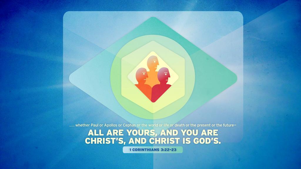 1 Corinthians 3:22–23 large preview