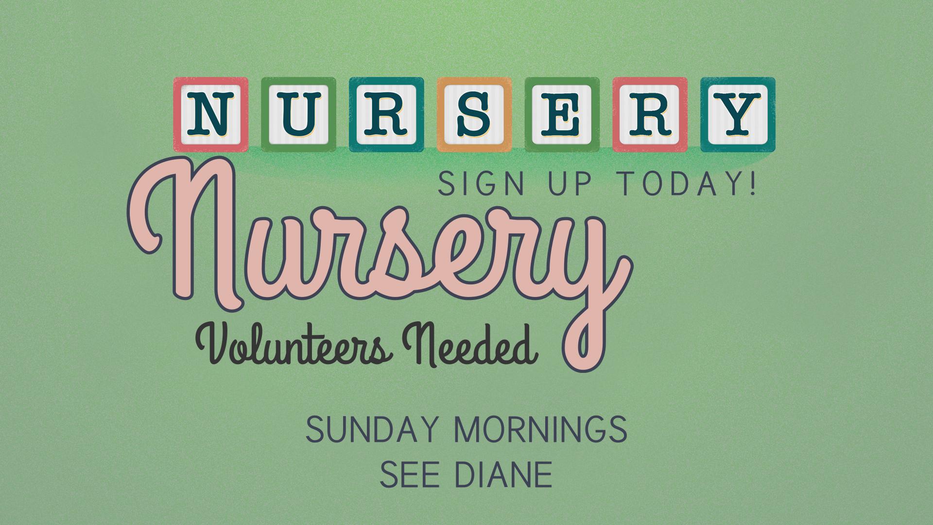 Nursery Blocks Green Volunteers Needed