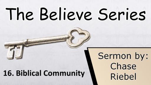 16. Biblical Community