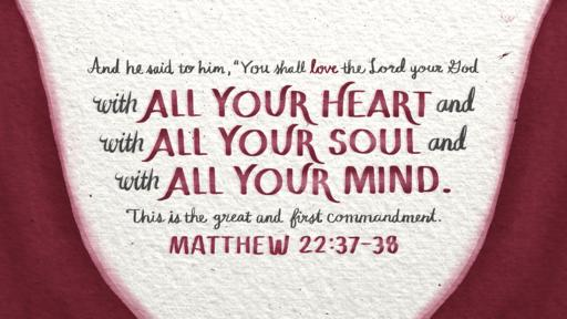 Matthew 22:37–38 verse of the day image
