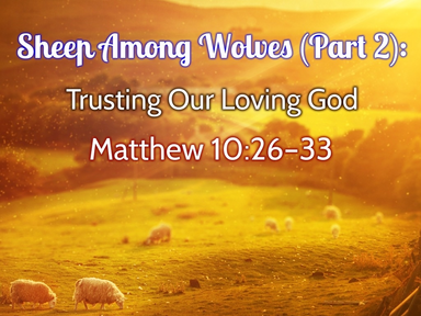 Sheep Among Wolves (Part 2), Trusting Our Loving God