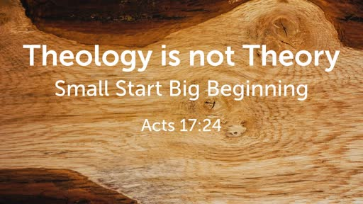 Theology is not Theory