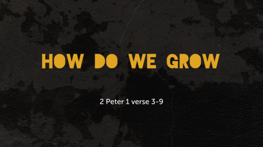 How do we grow