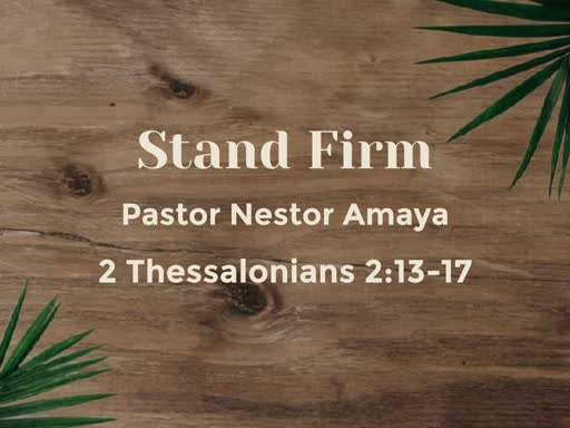 February 24, 2019 - Stand Firm