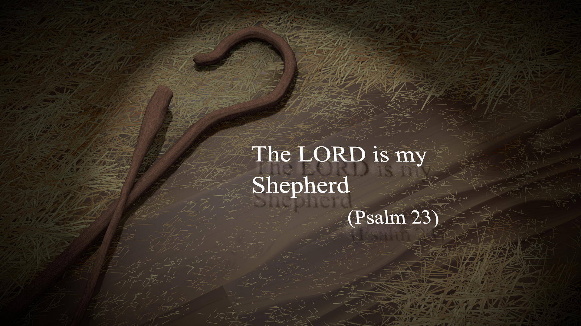 Making The Lord Personal By Adknowledging Him As Your Shepherd