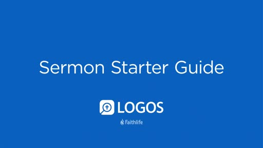 Sermon Starter Guide