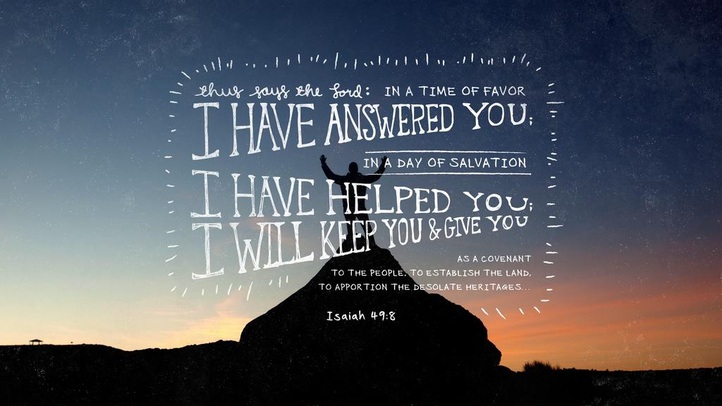 Isaiah 49:8 large preview