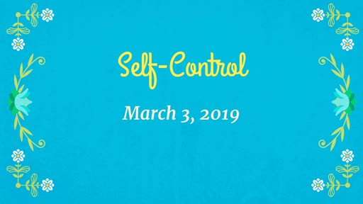 03/03/19 - Self-control