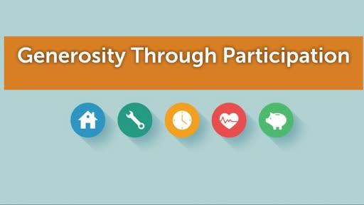 Generosity through Participation