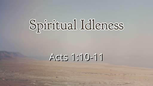 Spiritual Idleness