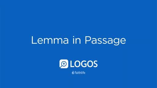 Lemma in Passage