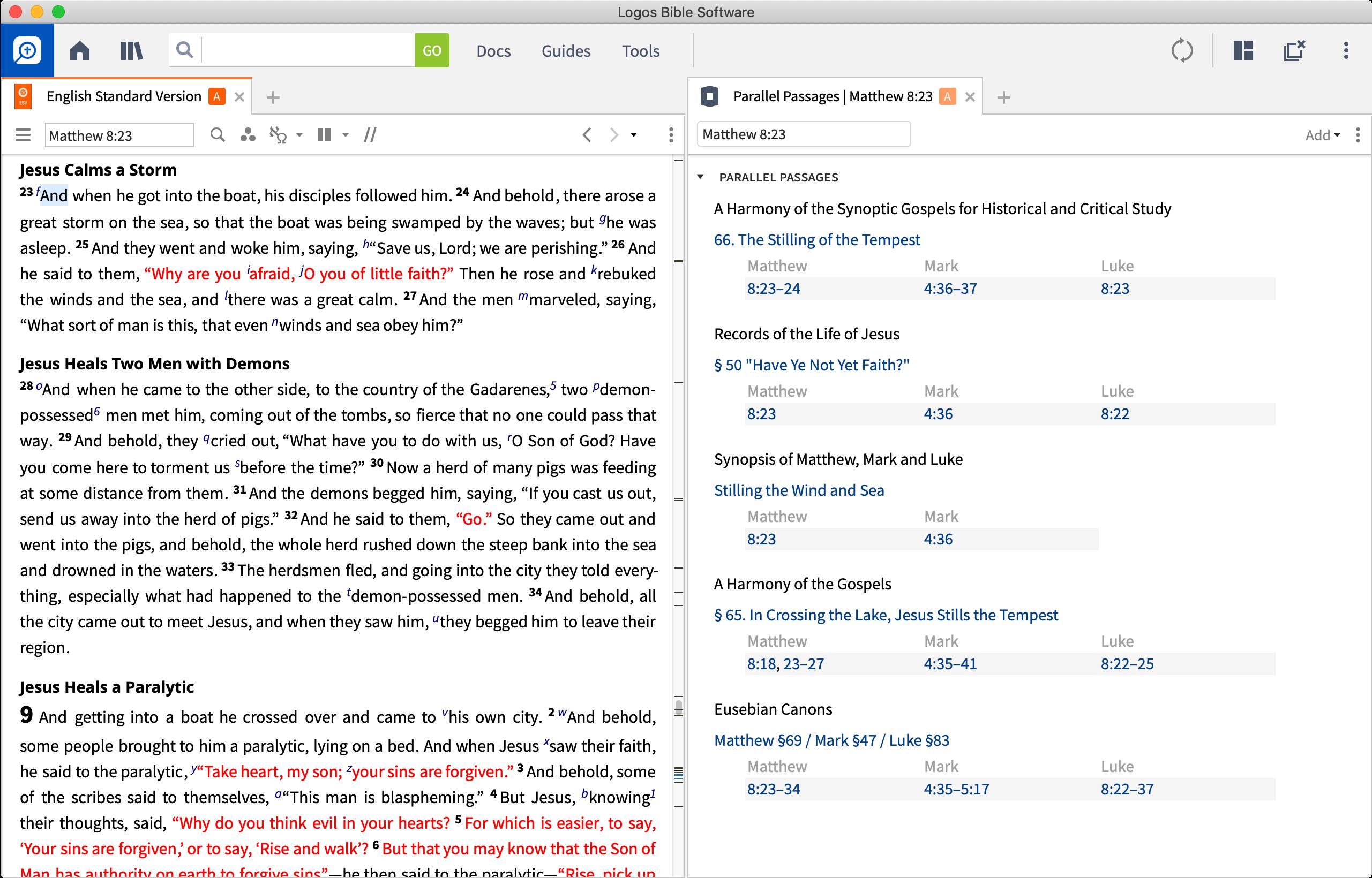 Features | Logos Bible Software