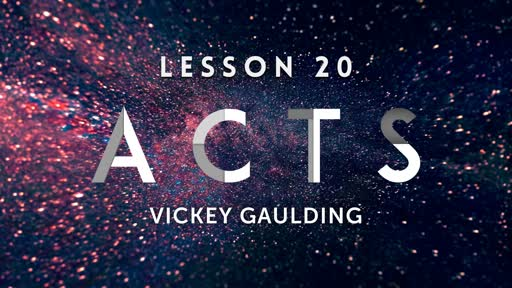 Acts - Lesson 20