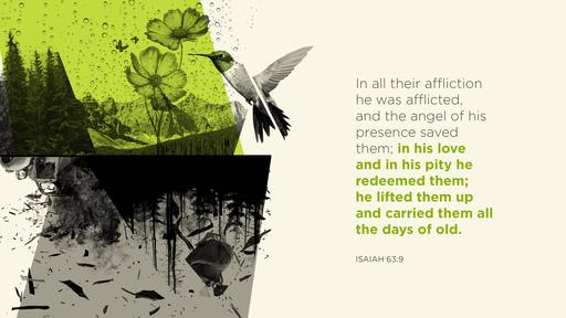 Isaiah 63:9 verse of the day image