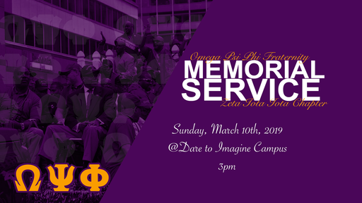 Omega Psi Phi Memorial Service