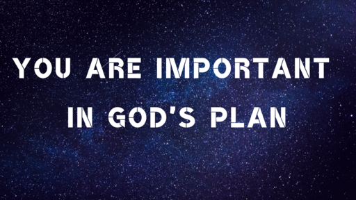 YOU ARE IMPORTANT IN GOD'S PLAN 2