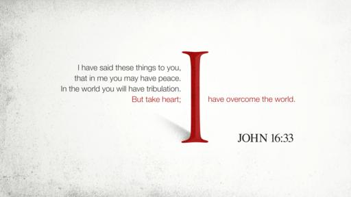 John 16:33 verse of the day image
