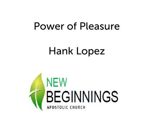 Wed 3/13 Power of Pleasure