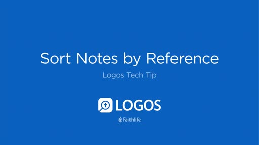 Sort Notes By Reference