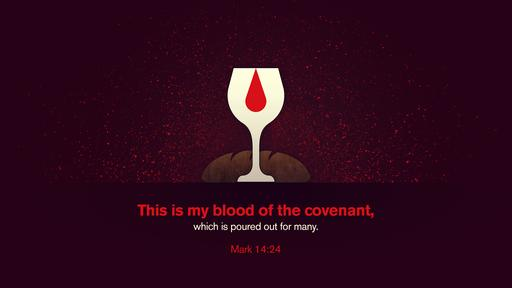 Mark 14:24 verse of the day image