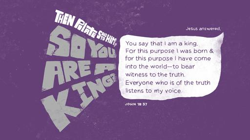 John 18:37 verse of the day image