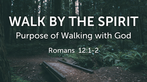 March 17, 2019 The Purpose of Walking with God