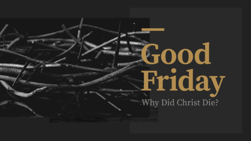 Why Did Christ Die?