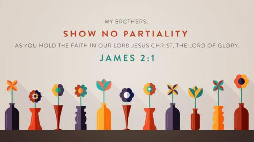 James 2:1 verse of the day image