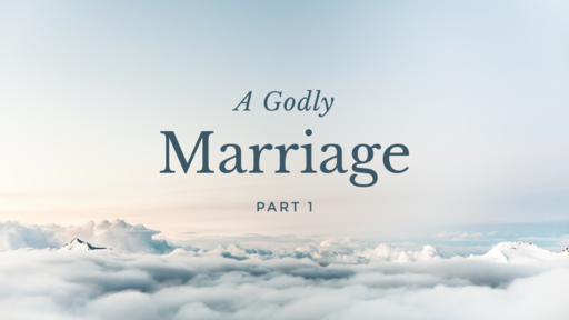 A Godly Marriage Part 1 - 03.17.19 PM