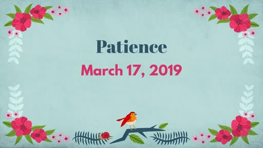 03/17/19 - Patience