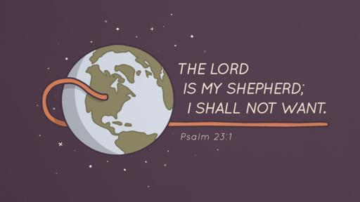 Psalm 23:1 verse of the day image