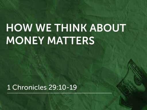 How We Think About Money Matters