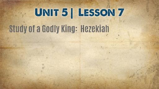 Study of a Godly King:  Hezekiah