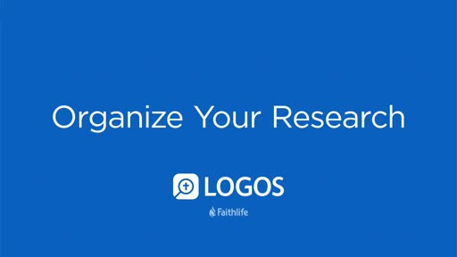 Organize Your Research